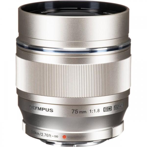 Olympus M.Zuiko ED 75/1.8 Silver-CH Garantie