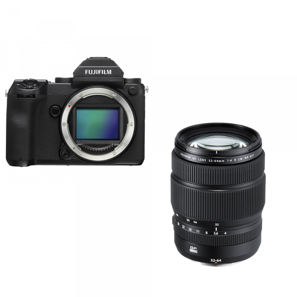 Fujifilm GFX 50S + Fujinon GF 32-64/4 R LM WR-inkl. 400.- Sofortrabatt,4 Jahre Fachhandelsgarantie
