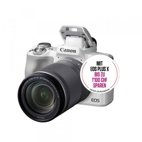 Canon EOS M50 weiss+EF-M 18-150mm IS STM-Kit Bonus Aktion,CH Gar