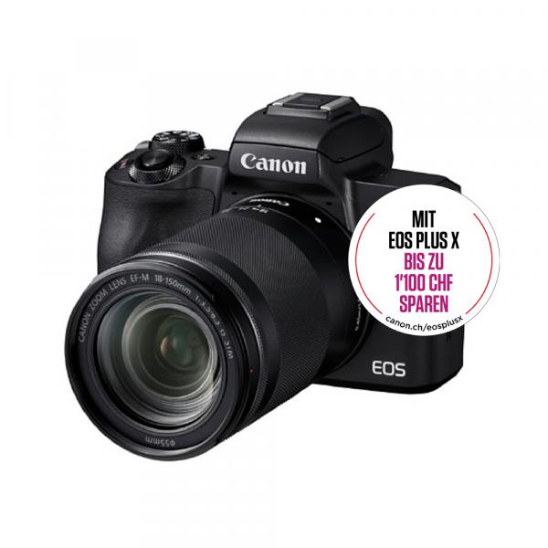 Canon EOS M50 black+EF-M 18-150mm IS STM-Kit Bonus Kit,CH Gar.