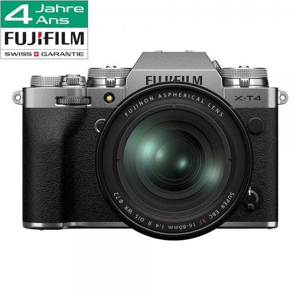 Fujifilm X-T4 Kit XF 16-80mm silber-4 Jahre CH Fachhandelsgarantie