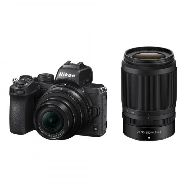 Nikon Z50 Kit DX 16-50mm VR+DX 50-250mm VR-3 Jahre CH Garantie