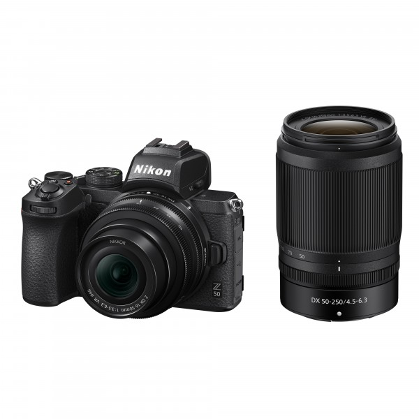 Nikon Z50 Kit DX 16-50mm VR+DX 50-250mm VR-inkl. 100.- Sofort-Rabatt,3 Jahre CH Garantie
