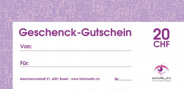 Marlin Geschenk-Gutschein 20.- CHF