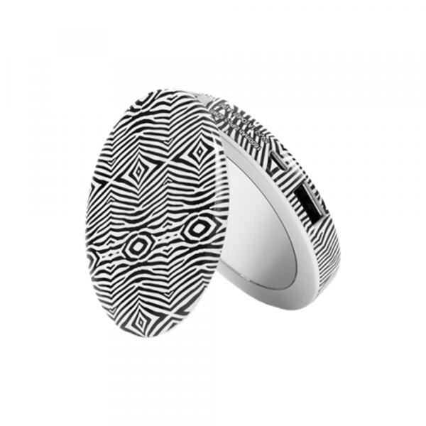 Pearl Zebra BW Spiegel mit Ladefunktion