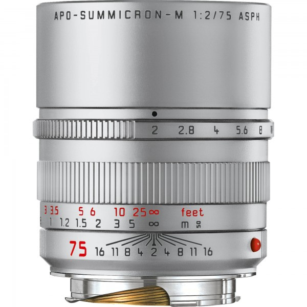 Leica APO-Summicron M 75/2.0 ASPH. silbern eloxiert 11701
