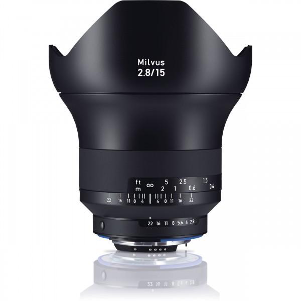 Zeiss Milvus 2.8/15 ZF.2 -Mount, Nikon - inkl. 150. Sofortrabatt