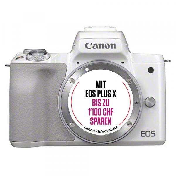 Canon EOS M50 Body weiss-Kit Bonus Aktion,CH Gar.