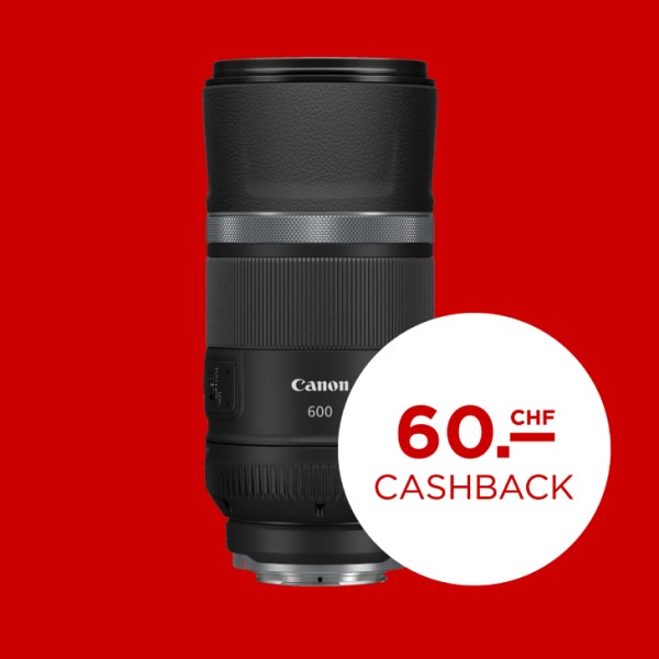 Canon RF 600mm F11 IS STM-abzgl. 60.- CashBack , CH Garantie