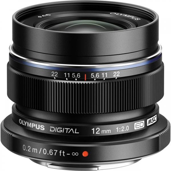 Olympus M.Zuiko 12mm/2.0 black-CH Garantie