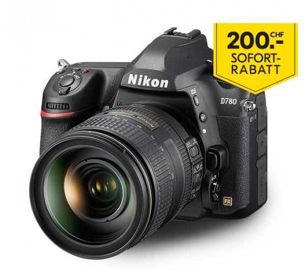 Nikon D780 Kit AF-S 24-120/4G ED VR-inkl. 200.- Sofort-Rabatt,3 Jahre CH Garantie