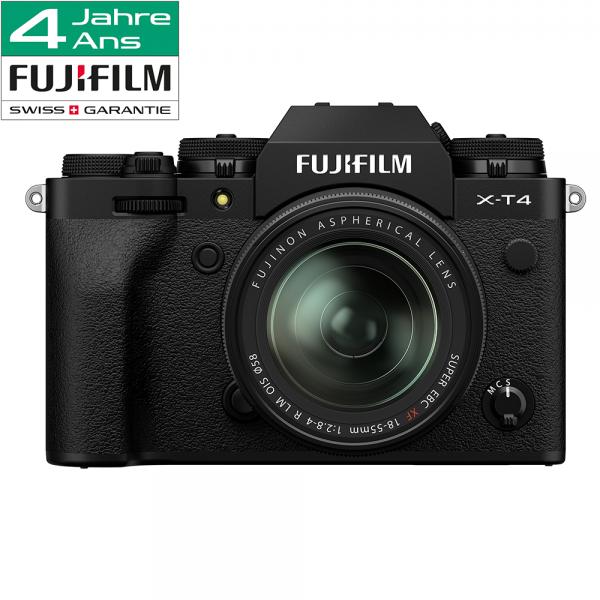 Fujifilm X-T4 Kit XF 18-55mm black-4 Jahre CH Fachhandelsgarantie