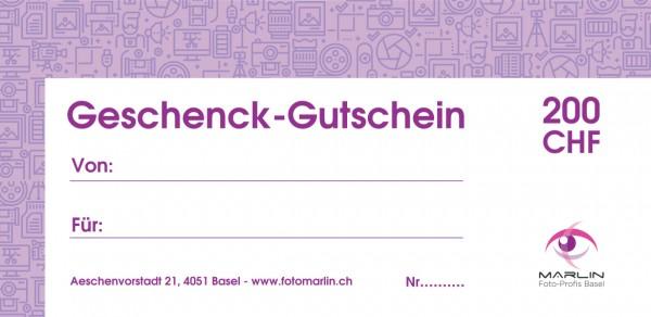 Marlin Geschenk-Gutschein 200.- CHF