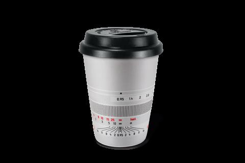 """Leica Kaffeebecher """"Noctilux-M 50"""", silbern"""