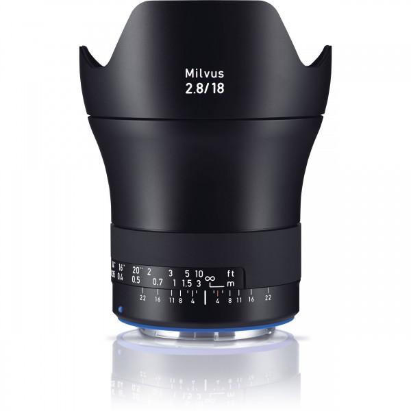 Zeiss Milvus 2.8/18 ZE-Mount, Canon