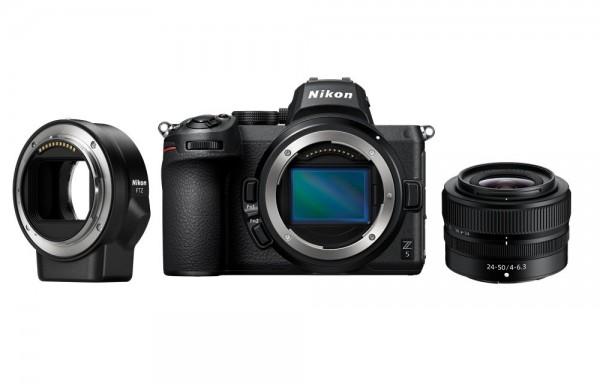 Nikon Z 5 Kit Z 24-50/4-6.3+FTZ Adapte-3 Jahre CH Garantie