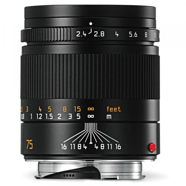 Leica Summarit-M 75/2.4 schwarz 11682