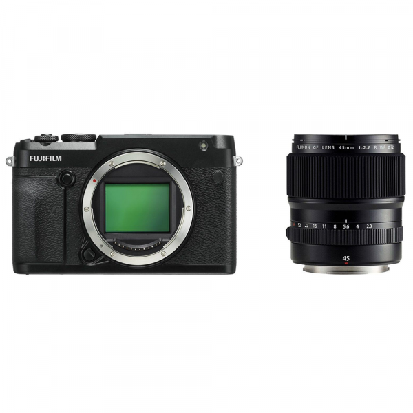Fujifilm GFX 50R+GF 45/2.8 R WR-inkl. 400.- Sofortrabatt,4 Jahre Fachhandelsgarantie