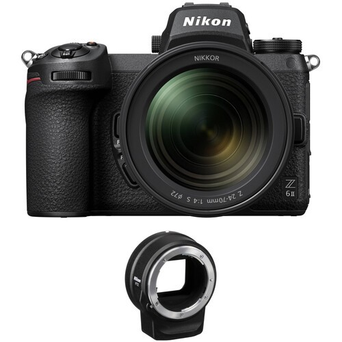 Nikon Z6 II Kit inkl. 24-70/4 S+FTZ F-Mount Adapter-3 Jahre CH Garantie