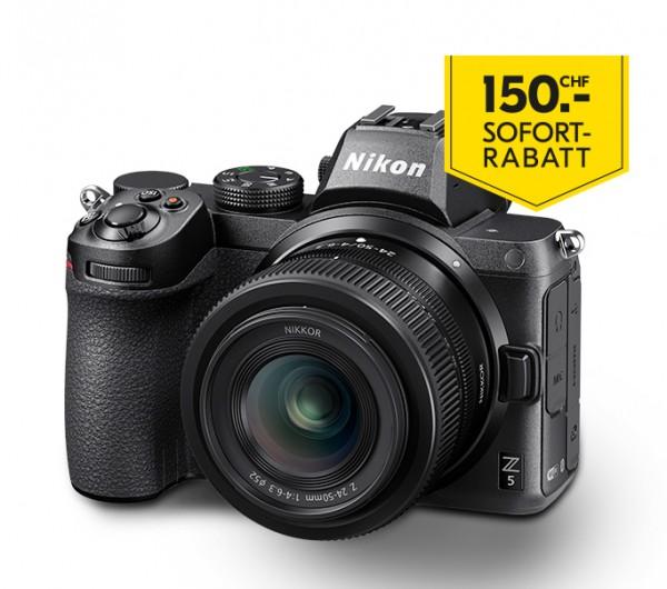 Nikon Z 5 Kit Z 24-50/4-6.3-inkl. 150.- Sofort-Rabatt,3 Jahre CH Garantie