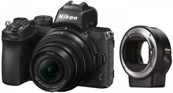 Nikon Z50+DX 16-50mm VR+FTZ Adapter-3 Jahre CH Garantie