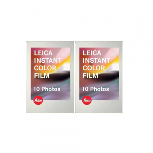 Leica Instant Color Film 2x10 Photos Warm White Frame